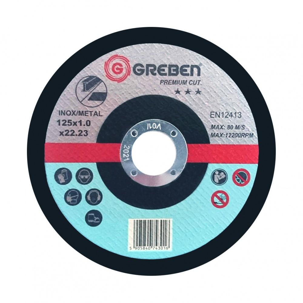 Tarcza do cięcia Inox/stal GREBEN Premium 125x1x22