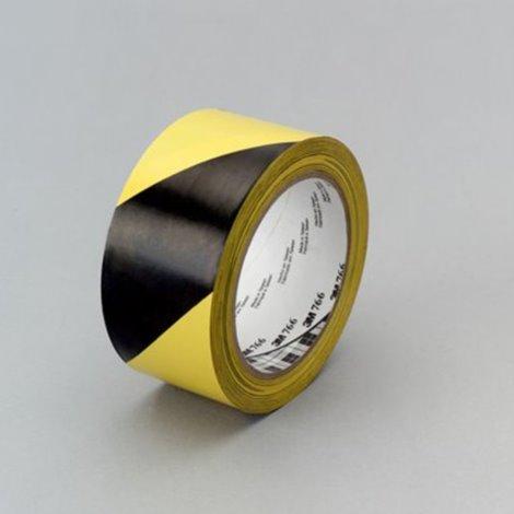 Taśma winylowa 766i , 50mm x 33m, czarno-żółta