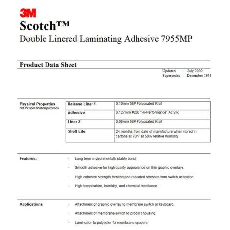 Błona do laminowania 468MP 610 x 915mm - 7955MP