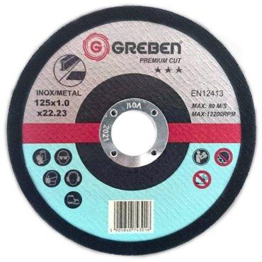 Tarcza do cięcia Inox/stal GREBEN Premium 115x1x22