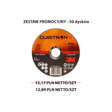 Tarcza Cubitron II 65512 - 125x1 PROMO ZESTAW 50