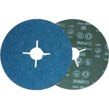 Lamellar Flap Disc 3M 566A, 115mm, P60, angle shaped