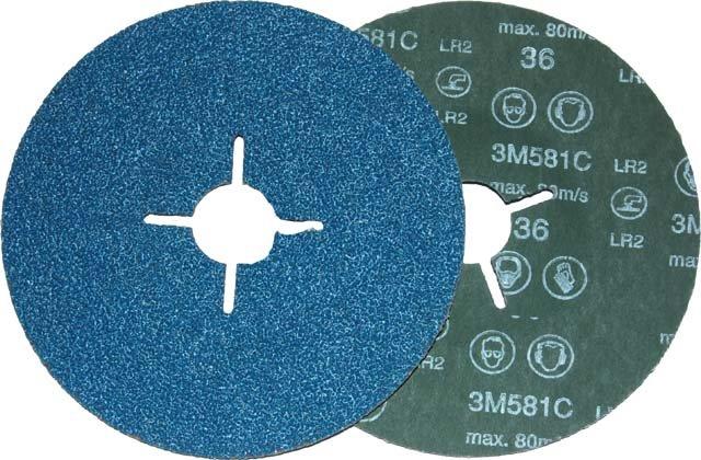 Dysk fibrowy 581C, P80, 178mm