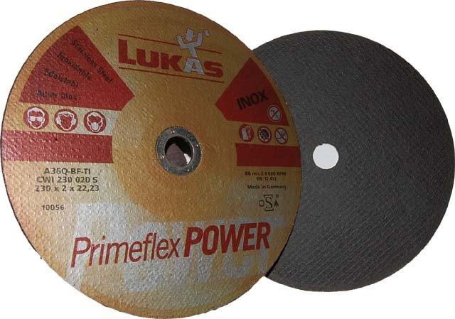 Tarcza do cięcia Lukas INOX Fi 230mm x 2mm x 22mm