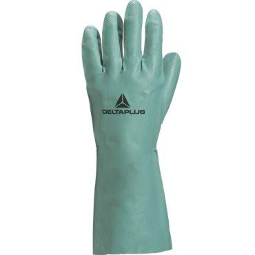 Rękawice NITREX z nitrylu ziel. flokowane 30cm 7,5