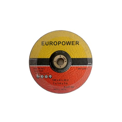 EUROPOWER/180/6/22 Tarcza do szlifowania stali