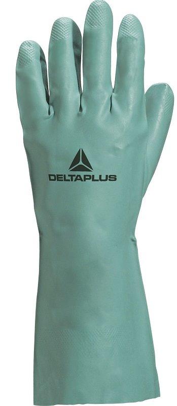Rękawice NITREX z nitrylu ziel. flokowane 30cm 6,5