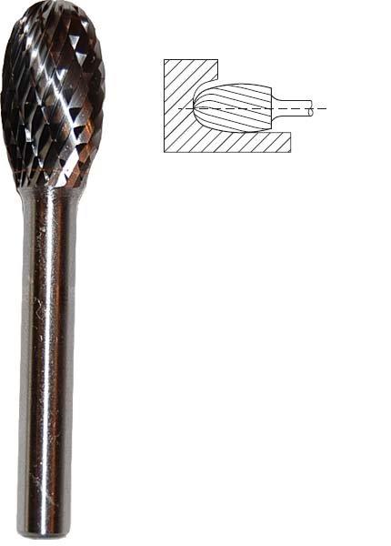 Frez H płomieniowy Fi 08 x 20 x 6 Z3węglik